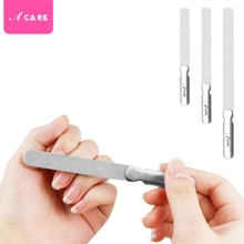 1pc Nail File Set Stainless Steel Round Head Professional Metal Manicure Pedicure Tools Woman Toenai