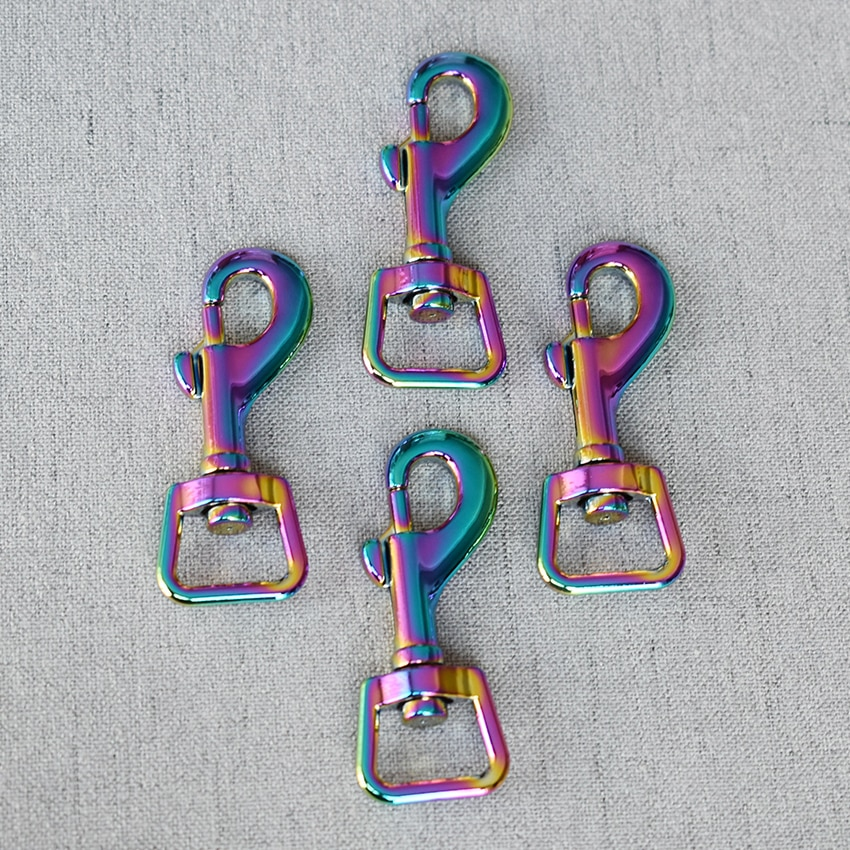 50 Pcs/Lot 15mm Colourful Metal Clasps Lobster for Strap Bag Buckles Dog Collar Keychain Swivel Trigger Clips Snap Hook DIY