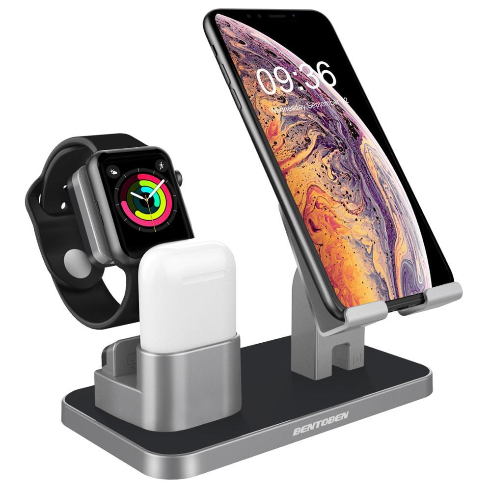 Soporte Universal de estación de carga BENTOBEN para iphone 7, soporte de escritorio para Apple iWatch Airpods iPad Tablet Android