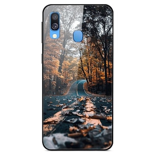 For Samsung Galaxy A20e Phone Case Tempered Glass Case Back Cover Series 2