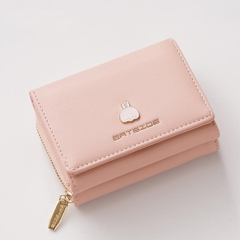 New Korean Style Square Ladies Buckle Zipper Cartoon Wallet
