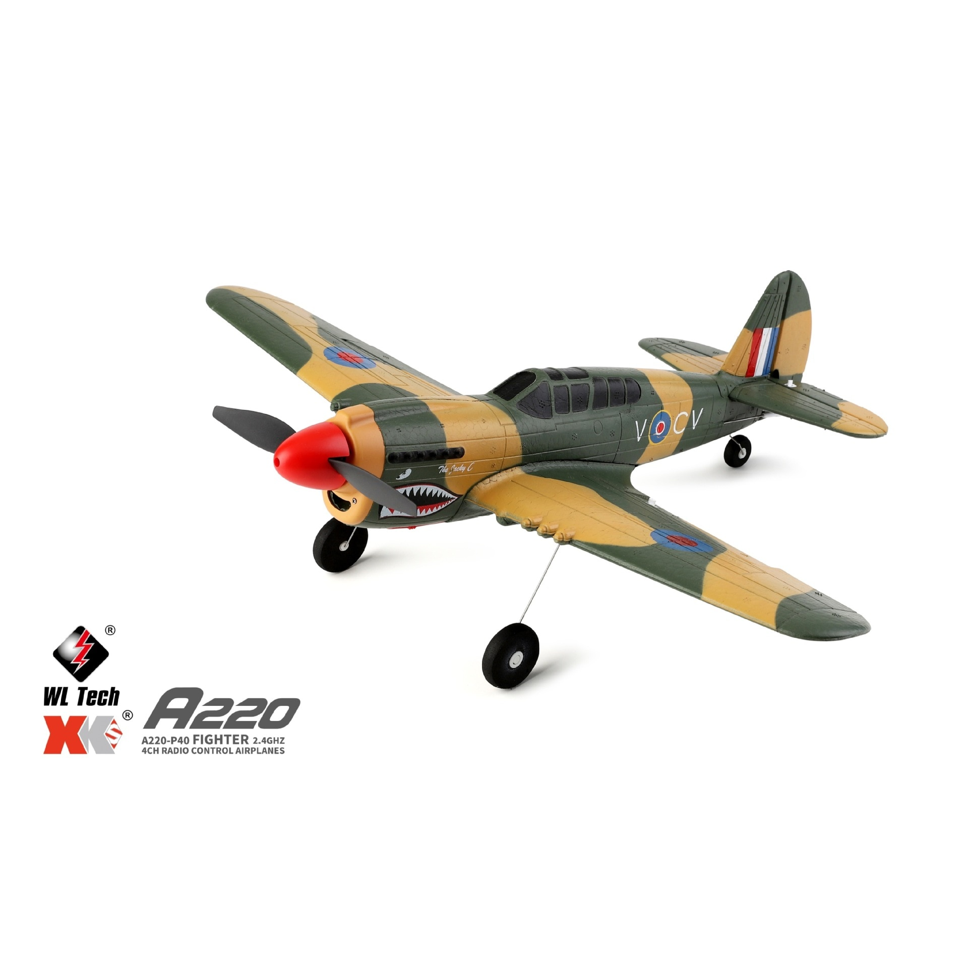 Wltoys RC Plane XK A220 P40 4Ch Glider 2.4G Radio Control aircraft EPP Fixed Wing Electric Airplane outdoor fly toys for boys enlarge