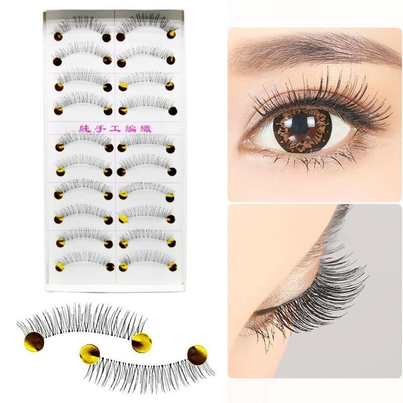 10 Pairs 3D Faux Mink Hair False Eyelashes Wispies Fluffies  Natural Dramatic Volume Fake Lashes Makeup Eyelash