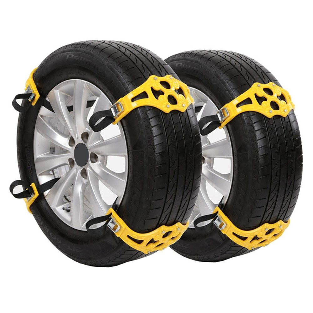 Car Tyre Winter Roadway Safety Tire Snow Adjustable Anti-skid Safety Double Snap Skid Wheel TPU Chains