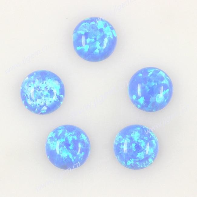 Скидка! 50 шт. OP06 светильник синий 6 мм синтетический, Круглый полукруглый Кабошон Драгоценные Камни опалы камень