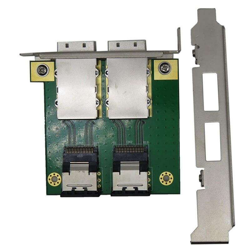 2 منافذ مزدوجة صغيرة SAS SAS26P Sff-8088 إلى Sas36P Sff-8087 محول في PCI براكي PCI قوس محول