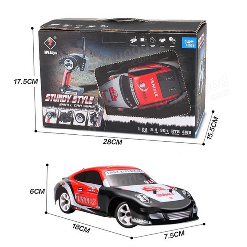 WLtoys K989 K969 RC Car Remote Control Four-Wheel Drive Car Charger Electric Toys Race Car 1:28 High-Speed Off-Road Vehicle enlarge