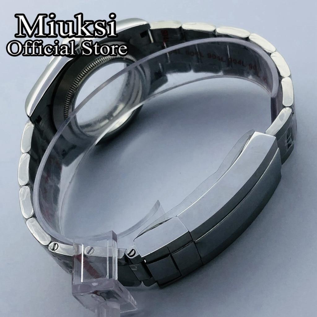 Miuksi 36mm/40mm silver case sapphire glass date fit NH35 NH36 ETA 2836 Mingzhu DG2813 3804 Miyota 8205 8215 821A movement enlarge