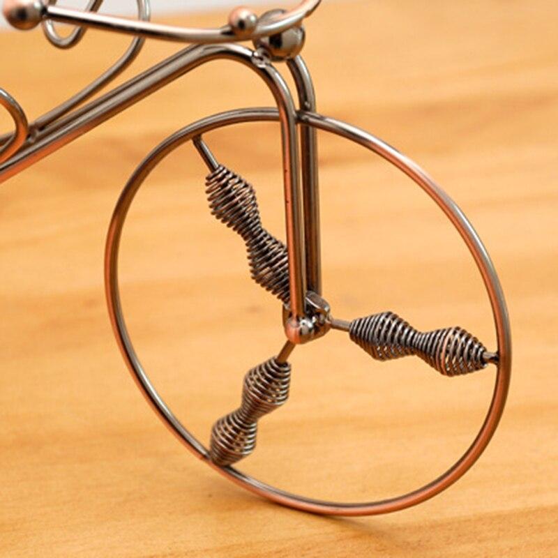 دراجة ثلاثية العجلات على شكل النبيذ الرف عقد 1 زجاجة نبيذ الإبداع الحديد الذهبي زجاجة نبيذ حامل مثالي ل طاولة مطبخ Hot