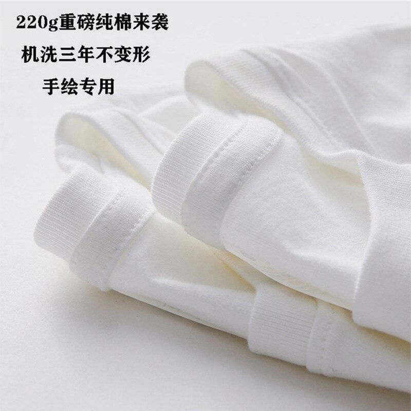 220g gola de tripulação de algodão puro grosso base camisa de algodão penteado t importante algodão puro de manga curta