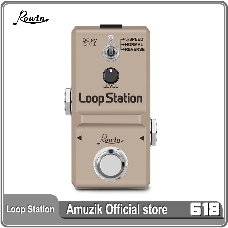 rowin tiny looper electric guitar effect pedal 10 minutes of looping unlimited overdubs Rowin LN-332S Guitar Mini Loop Station Pedal Looper Effect Pedals For Electric Guitar 10 Min Recording Unlimited Overdub 3 Modes