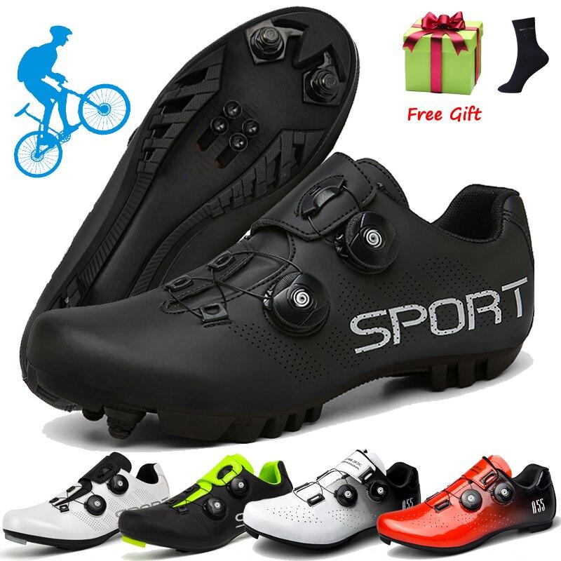 2021 Cycling MTB Shoes Men Sports Winter Route Cleat Road Dirt Bike Speed Flat Sneaker Racing Women Bicycle Mountain Spd Biking