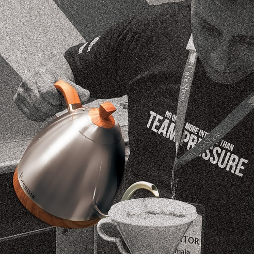 Brewista Gooseneck الخشب الكهربائية صب فوق القهوة الشاي ترموستاتي الذكية الرقمية غرامة الفم المشروب غلايات 600 مللي