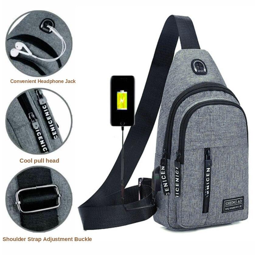 Gym Bag Pack Men's Backpack 2019 New Nylon Canvas Chest Pack Casual Sports Travel  Shoulder Messenger Bag New Arrival