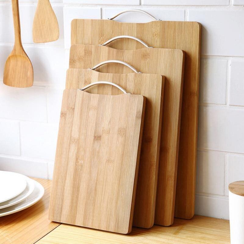 Tabla de cortar gruesa, tabla de cortar natural, tabla de cortar de bambú, herramienta de corte de madera