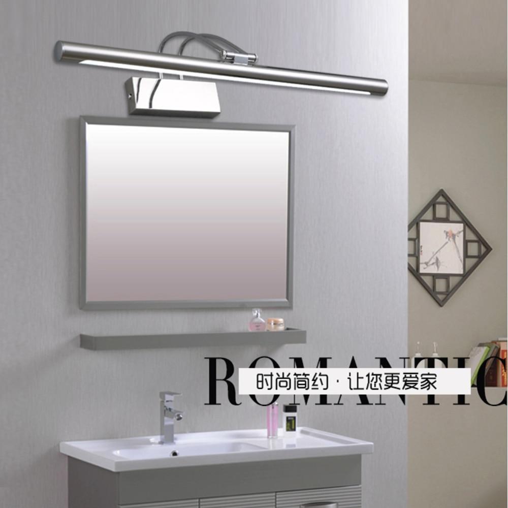 Lámpara LED de espejo frontal de 8-10W, luces de tocador de acero inoxidable para baño, baño, pared de salón, accesorio de iluminación, lámpara de aplique