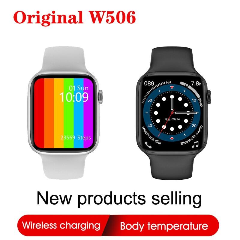IWO 13 لايت W506 44 مللي متر 40 مللي متر ساعة ذكية سلسلة 6 اللاسلكية شحن بلوتوث دعوة تدوير زر مقاوم للماء Smartwatch PK W26 W56