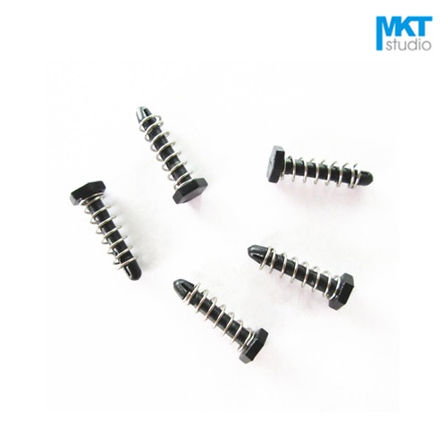 1000Pcs 3*13.8mm Black Push Pins Hex Plastic Rivet With Compression Springs For Cooling Fin Radiator Heat Sink