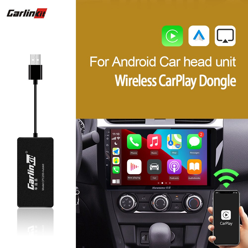CarlinKit  Wireless Carplay Dongle For Android Navigation Player Smart USB Apple Carplay Wireless Android Auto Mirrolink Airplay