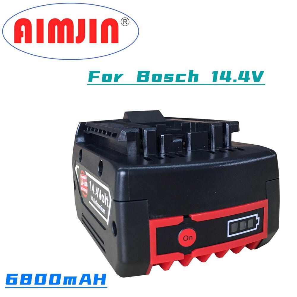 أحدث 14.4 فولت BAT614 6800mAh استبدال 18650 بطارية ليثيوم أيون حزمة ل Bosch الحفر الكهربائية مفك BAT607 ، BAT614G 40 متر + شاحن
