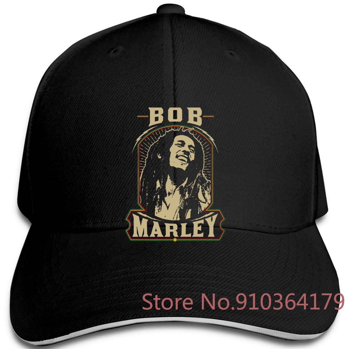 Gorra de béisbol ajustable con estampado Premium Reggae Bob Marley para hombre y mujer