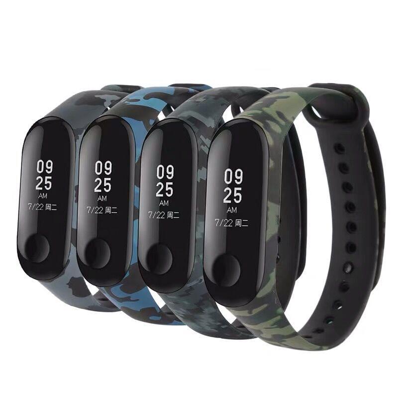 Raimwayer Camouflage Strap for Xiaomi Mi Band 3 4 Smartwatch Silicone Wrist Strap For Xiaomi Mi Band 3 4 Bracelet Miband Strap