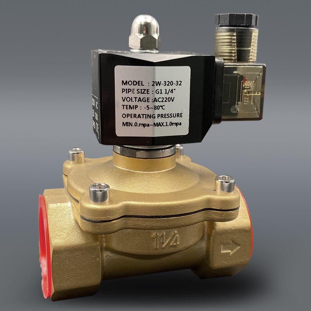 """Magnetventil DC12V DC24V AC220V 110V ventil spule normal geschlossen 1/4 """"3/8"""" 1/2 """"3/4"""" 1 """"2"""" messing elektrische ventil"""