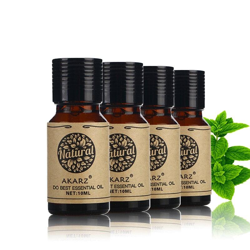 Akarz almíscar neroli rosa citronella óleo essencial para aromaterapia, massagem, spa, banho 10ml * 4