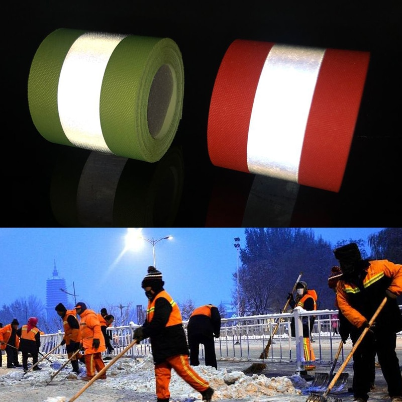 High Visibility Flame Retardant Sun Warning Reflective Strip Safety Conspicuity Segmented Tape Fabric Material