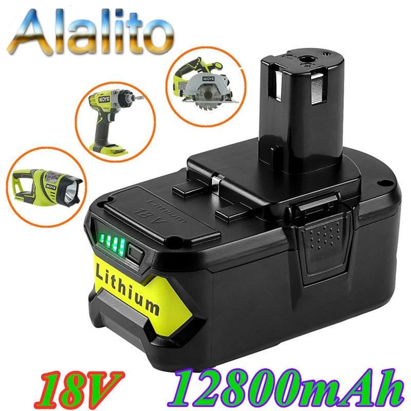 Hohe Kapazität 18V 12800mAh Li-Ion Für Ryobi Heißer P108 RB18L40 Akku Pack Power Werkzeug Batterie Ryobi ONE
