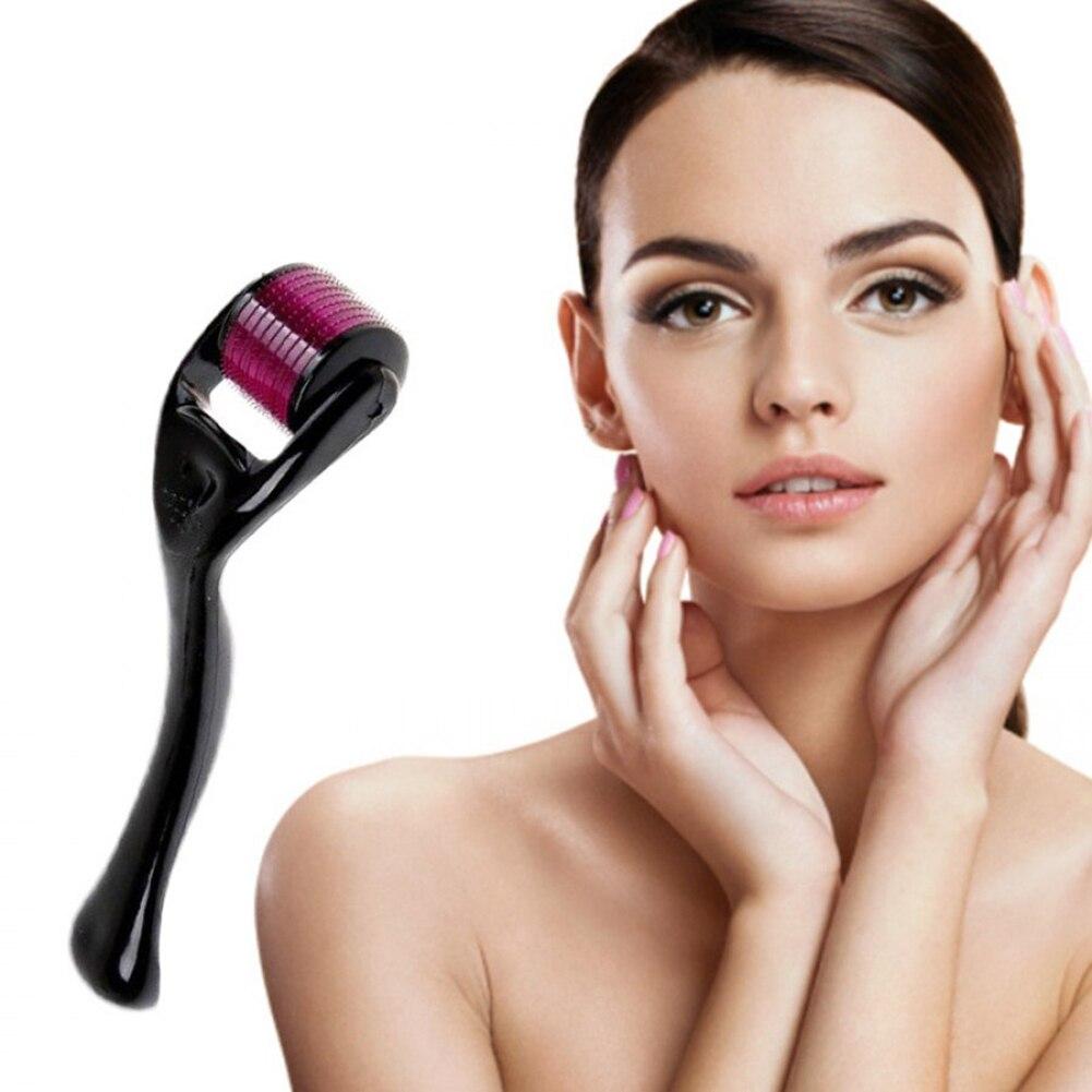 0.25mm Facial Roller Premium Derma Roller Microneedle Roller 540 Titanium Micro Needle Cosmetic Beauty Tool Instrument (0.25mm)