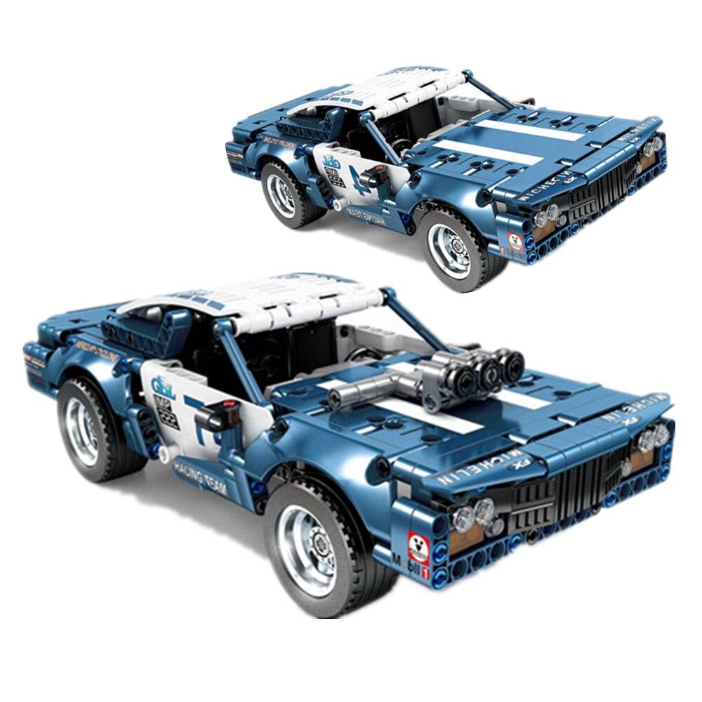 Новая техническая модель автомобиля, модель мышечной машины, кубики-конструкторы, экспертный набор кирпичей, детские игрушки, подарок для д...
