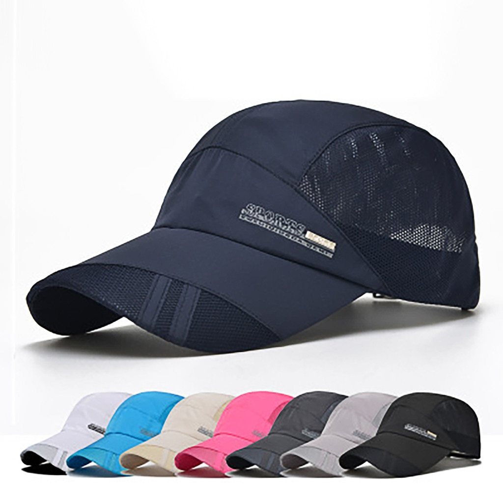 New Summer Outdoor suitable Mesh Patchwork Baseball Cap Unisex soft and comfortable Sun Hat Baseball