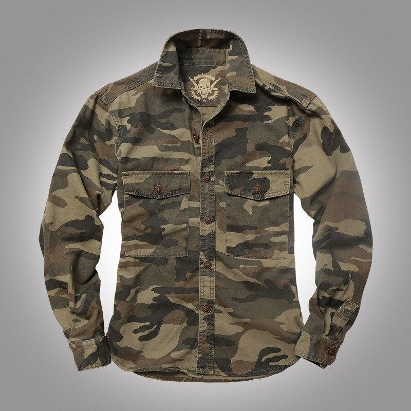 قمصان عسكرية تكتيكية للتنزه في الهواء الطلق للرجال ، ملابس عسكرية مموهة للرجال ، قميص رياضي بأكمام طويلة ، ملابس صيد قابلة للتنفس