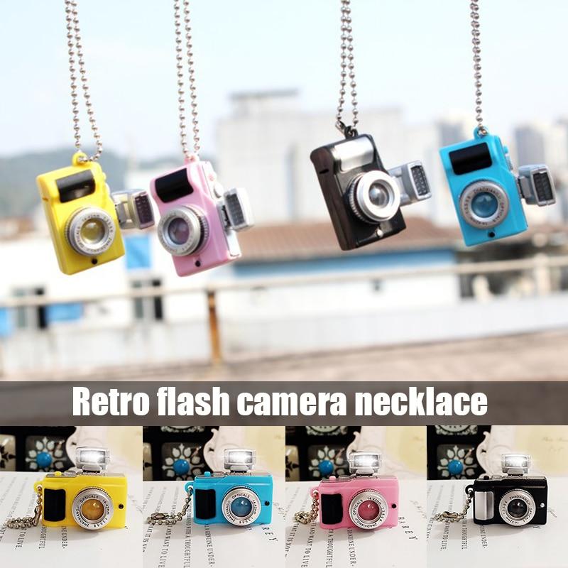 Photoflash Cámara 3D colgante fotógrafo encanto collar llavero bolso colgante collar A66