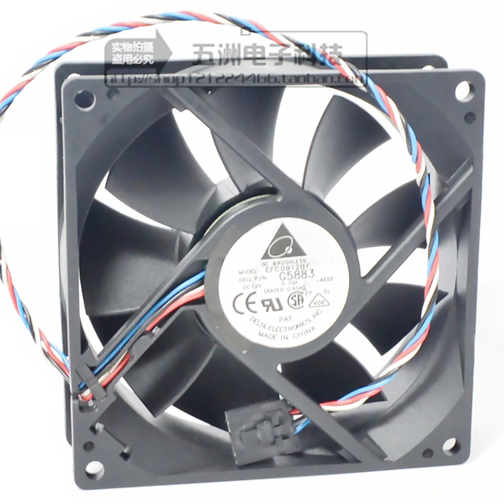 for delta EFC0912BF 12V 0.70A 9032 server fans 8100 8200 8250 8300 4600 2400, OptiPlex 160L OptiPlex 170L GX260 GX270 GX60 GX240
