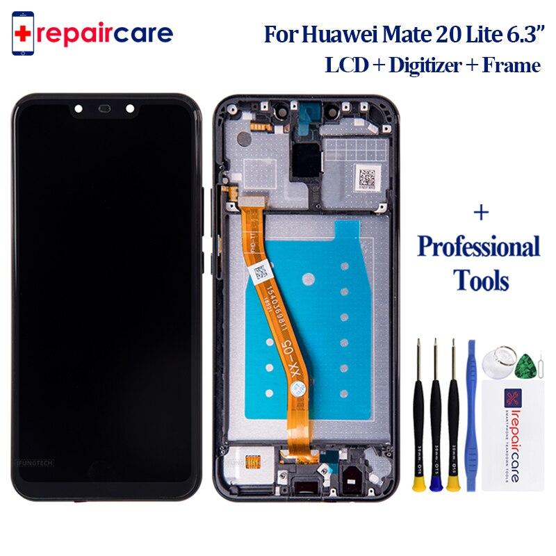 Huawei-teléfono inteligente Mate 20 Lite, 5 uds., pantalla LCD Original de 6,3 pulgadas con Digitalizador de panel táctil para Huawei mate 20 lite