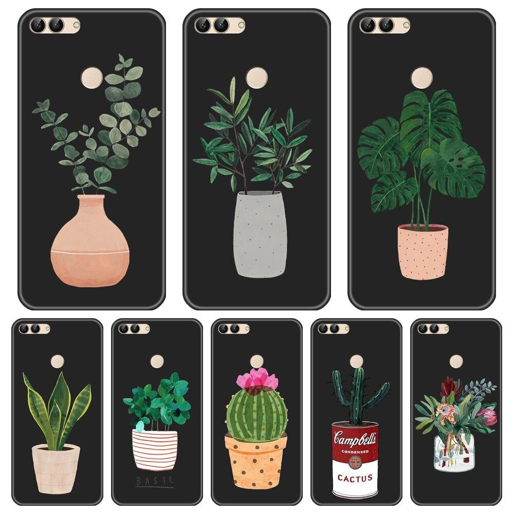 Phone Cover For Huawei P8 P9 Lite Mini 2017 Case Silicone Cactus Soft For Huawei P20 Lite Pro P9 P10 Plus P Smart Phone Case