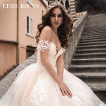 ETHEL ROLYN A-Line Wedding Dress 2020 Elegant Sweetheart Backless Appliques Princess Bride Gowns Customized Vestido De Noiva