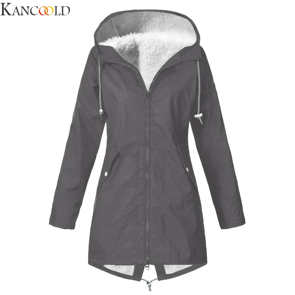 KANCOOLD Women Parkas Winter Coats Hooded Thick Cotton Warm Female Jacket Fashion Mid Long Wadded Co