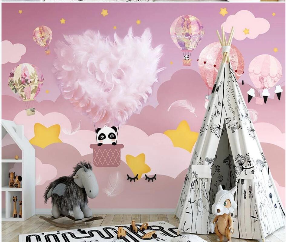3D-обои AINYOOUSEM, мультяшный фон для детской комнаты, настенные бумажные обои, 3D обои, Настенные обои