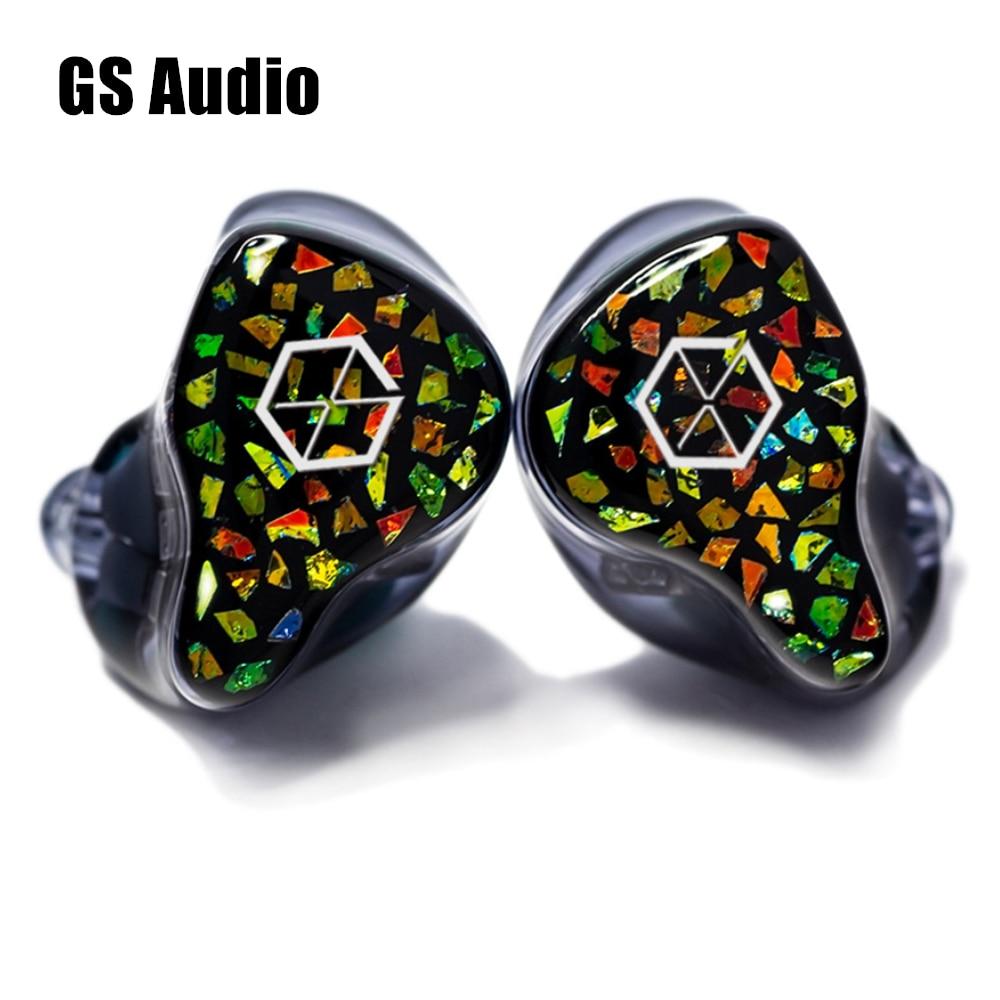 فينجرو GS الصوت GD9 النجوم 1DD + 8BA الهجين سماعة HiFi الموسيقى رصد الصوت 2Pin 0.78 مللي متر سماعات 8 كور OFC منفصلة سماعة