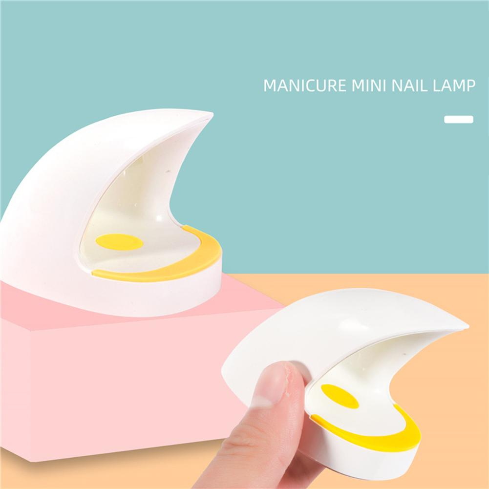 6W LED Mini Nail Lamp Egg Shape Timing Phototherapy Nail Gel Dryer Lamp USB Interface Intelligent Induction Manicure Light