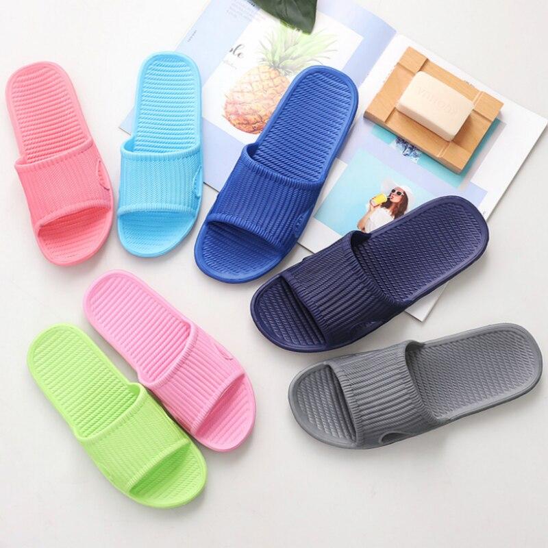 Men Indoor Home Slippers Summer Non-Slip Light Hotel Shoes Couple Soft Bottom Sandals Slippers Men's