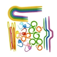 53pcslot 5 set abs plastic knitting cable needles stitch markers smooth u crochet hook and l needles markers sewing accessories