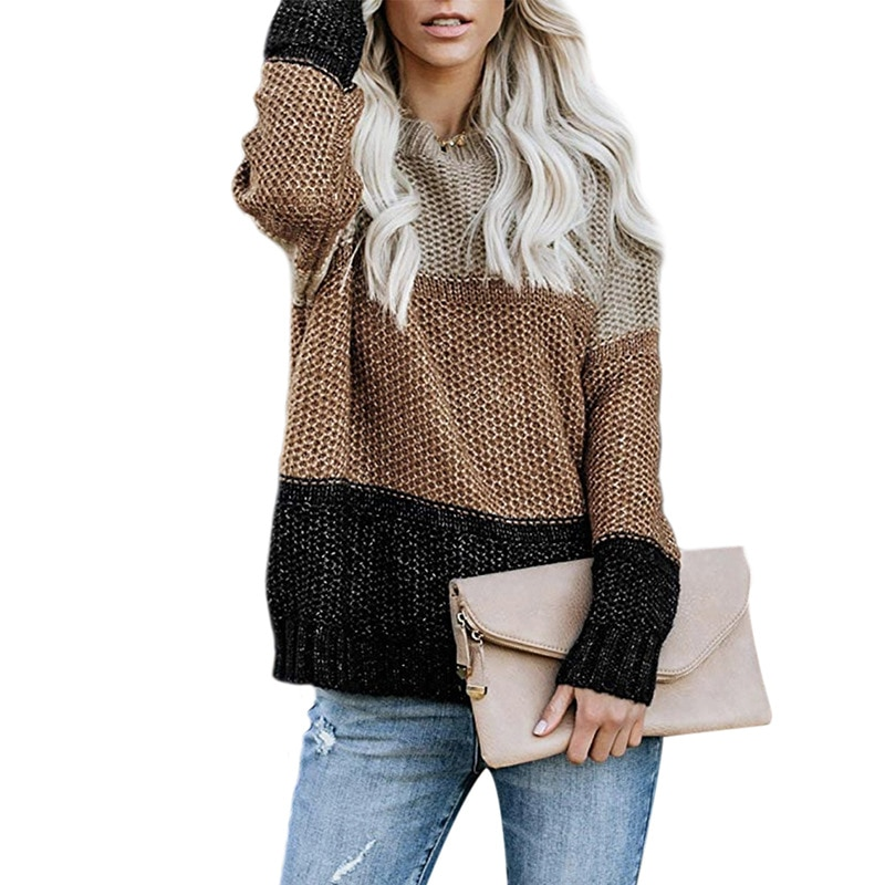 Женский вязаный свитер в Корейском стиле, модные пуловеры оверсайз, женские зимние свободные свитера, женский джемпер, женский джемпер