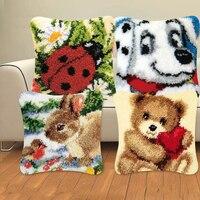 Серия животных, изысканная грубая шерсть, вышивка крестом, ковер, 3D сегментная вышивка, подушка, сделай сам, материал ручной посылка