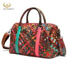 2021 Colorful Quality Leather Famous Luxury Patchwork Large Shopper Purse Handbag Shoulder Bag Women