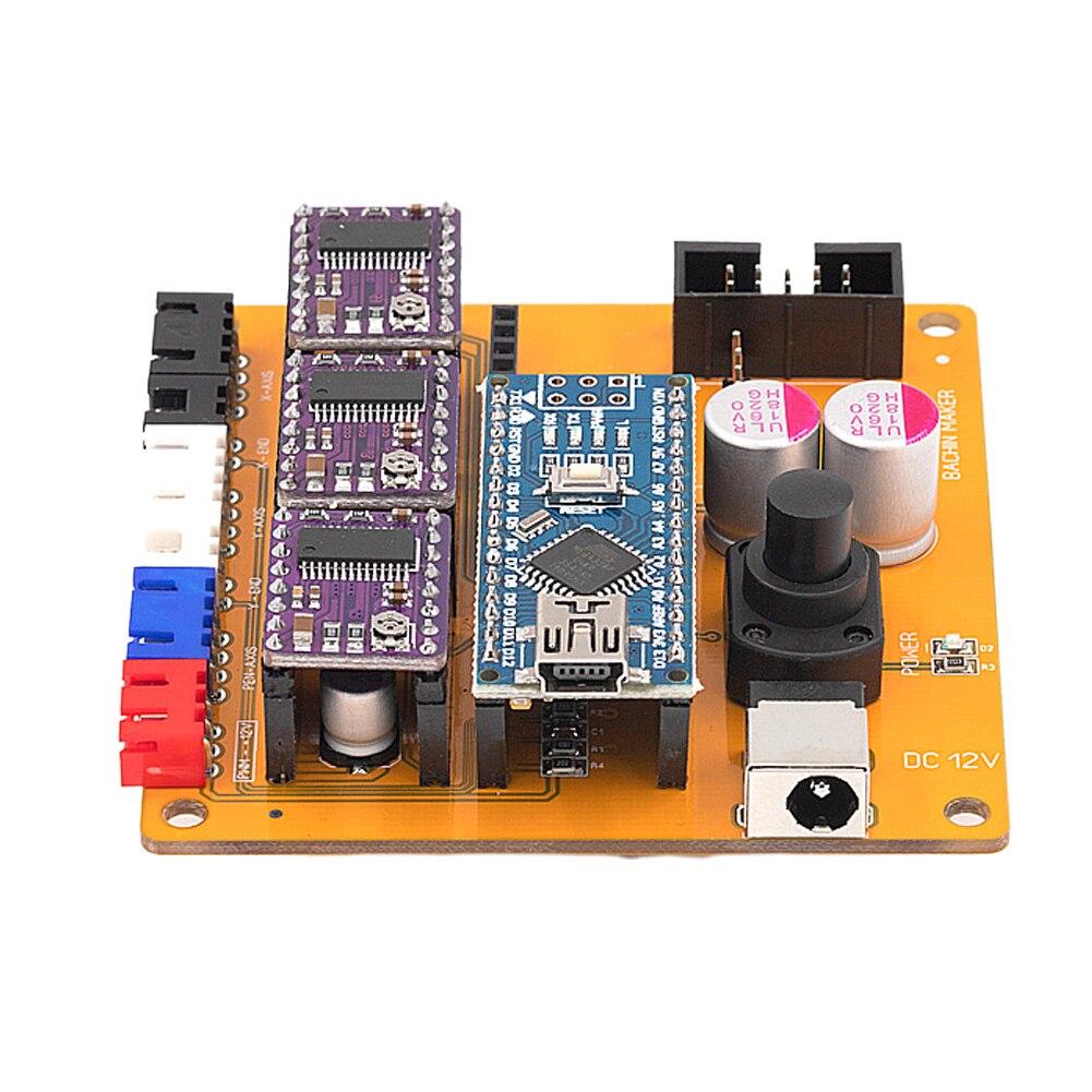 Placa de Control de 2 ejes profesional sin conexión PCB Chip NAN0 DIY máquina de grabado estable accesorios Panel Motor paso a paso principal