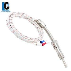 M8*1.25 M10*1.5 M12*1.5 K Type Compression Spring shielded wire Thermocouple Temperature Sensor for Temperature Controller